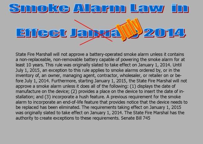 smoke alarm Update