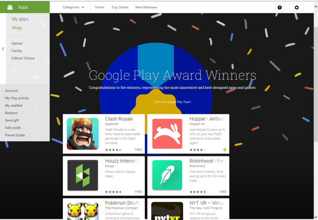 Google Play Winners